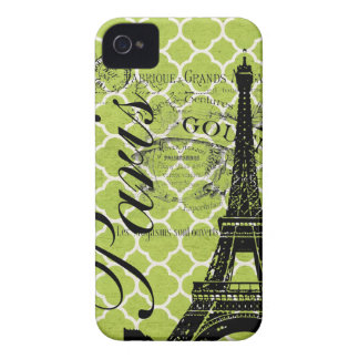 Vintage Paris & Eiffel Tower Blackberry Bold iPhone 4 Cases