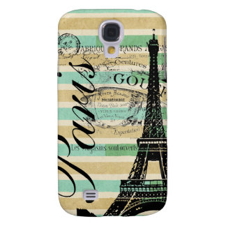 Vintage Paris & Eiffel Tower Blackberry Bold Samsung Galaxy S4 Cover