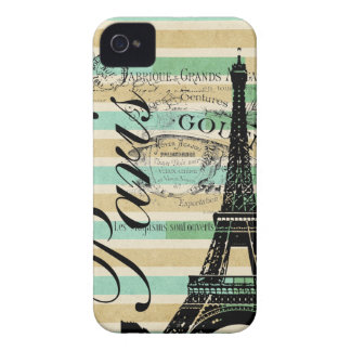 Vintage Paris & Eiffel Tower Blackberry Bold iPhone 4 Cover