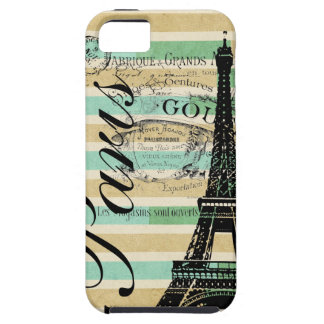 Vintage Paris & Eiffel Tower Blackberry Bold iPhone 5 Cases
