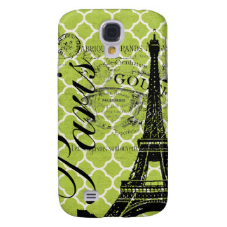 Vintage Paris & Eiffel Tower Blackberry Bold Samsung Galaxy S4 Case