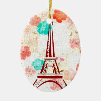 Vintage Paris - Eiffel Tower Ceramic Oval Decoration