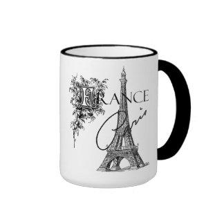 Vintage Paris Eiffel Tower coffee mug