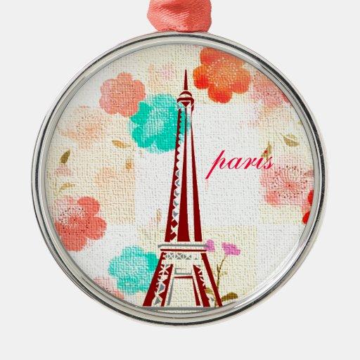 Vintage Paris - Eiffel Tower Ornament