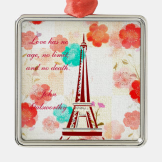 Vintage Paris - Eiffel Tower Christmas Tree Ornament
