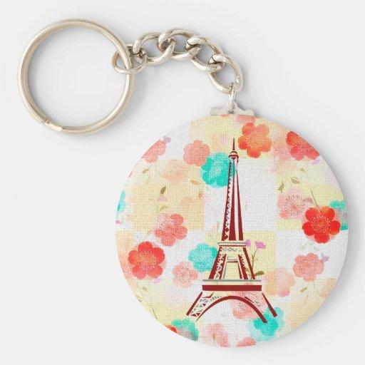 Vintage Paris - Eiffel Tower Key Chains