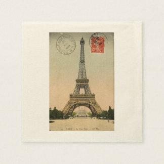 Vintage Paris Eiffel Tower Paper Serviettes