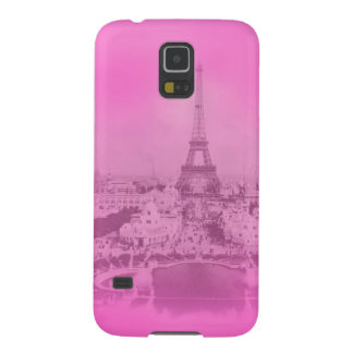 Vintage Paris & Eiffel tower Pink exposure Unique Galaxy S5 Cover