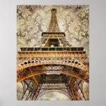 Vintage Paris, Eiffel Tower Print