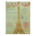 Vintage Paris Eiffel Tower Roses French Inspired
