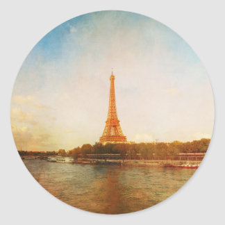 Vintage Paris Eiffel Tower Sticker