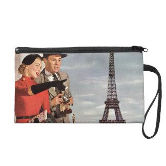 Vintage Paris - Eiffel Tower Wristlet Purses