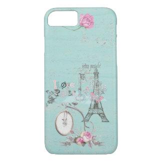 Vintage Paris-Eiffeltower- Flowers Bicycle iPhone 8/7 Case