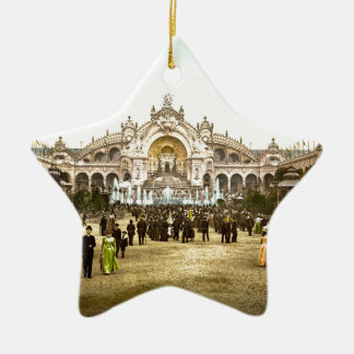 Vintage Paris Exposition of 1900 Ceramic Ornament