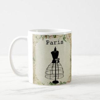 Vintage Paris Fashion Dress Form Coffee Mug
