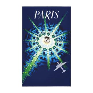 Vintage Paris France Arc de Triomphe Canvas Print