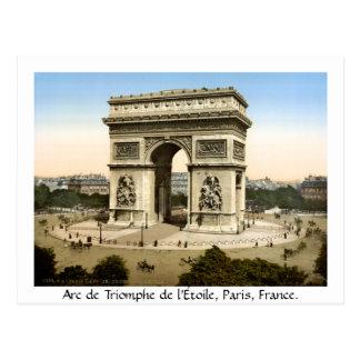 Vintage Paris France, Arc de Triomphe Postcard