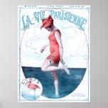 Vintage Paris France Bathing Suit Fashion & Beach Poster