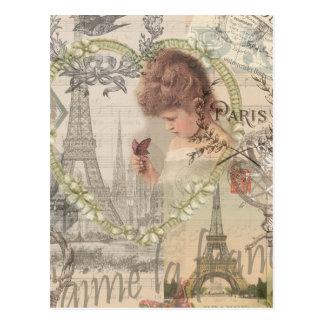 Vintage Paris France Collage Post Card