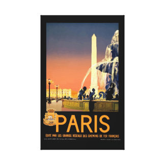 Vintage Paris France Travel Canvas Print