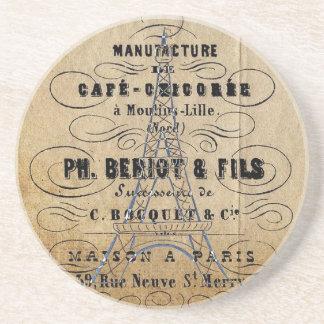 Vintage Paris French Advertising Ephemera Coaster