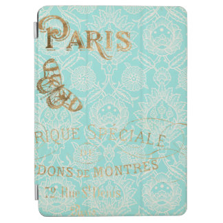 Vintage Paris Gold Design iPad Air Cover