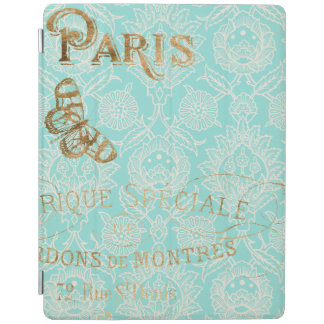 Vintage Paris Gold Design iPad Cover