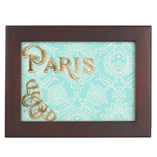 Vintage Paris Gold Design Keepsake Box