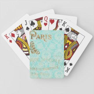 Vintage Paris Gold Design Playing Cards