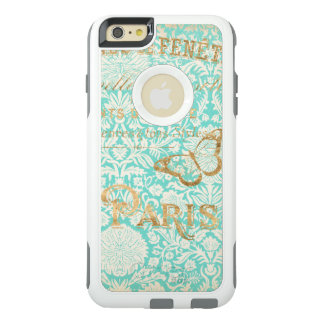 Vintage Paris Gold Design With Butterfly OtterBox iPhone 6/6s Plus Case