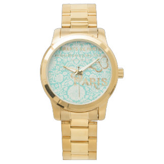 Vintage Paris Gold Design With Butterfly Watch