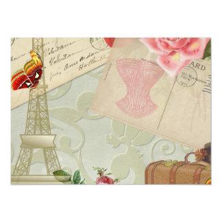 Vintage Paris Graphics 14 Cm X 19 Cm Invitation Card