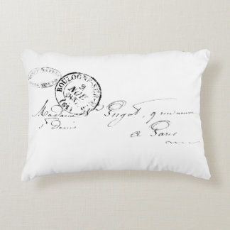 Vintage Paris Letter Accent Pillow