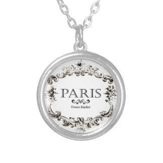 Vintage Paris Logo Necklace