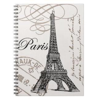 Vintage Paris...notebook Spiral Note Book