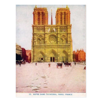 Vintage Paris, Notre Dame de Paris Postcard