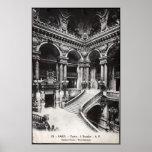 Vintage Paris Opera House Staircase Poster