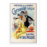 Vintage Paris Opera Theatre Carnival 1892 Post Cards