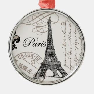 Vintage Paris...ornament Silver-Colored Round Decoration