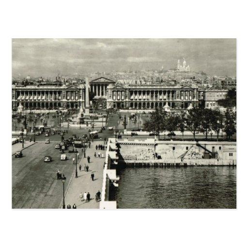 Vintage Paris, Paris, Place de la Concorde Post Card