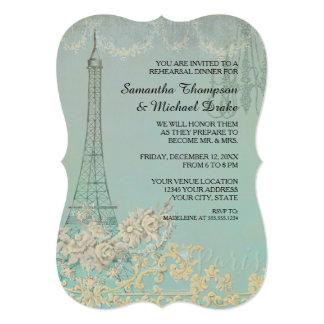 Vintage Paris Parisian Stylish Rehearsal Dinner Card