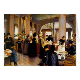 Vintage Paris Pastry Shoppe Blank Card