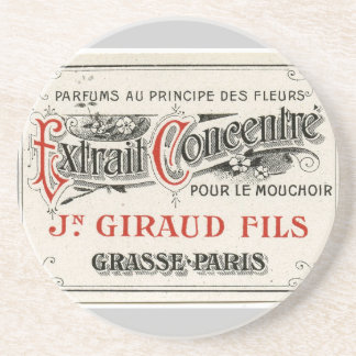 Vintage Paris Perfume Label Coasters