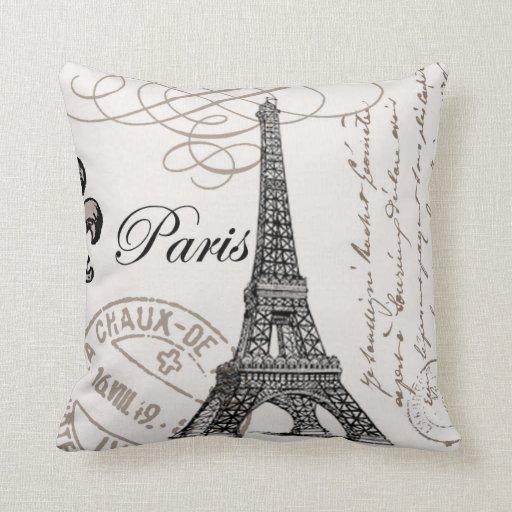 Vintage Paris Pillow Zazzle