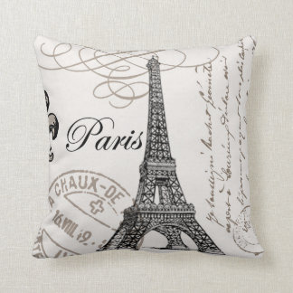 Vintage Paris...pillow Cushion