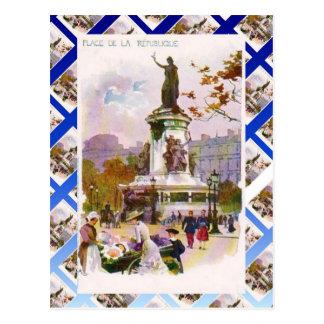 Vintage Paris, Place de la Republique Postcard