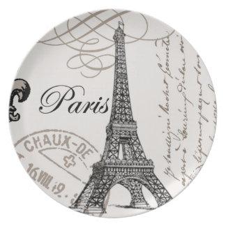 Vintage Paris...plate Party Plates