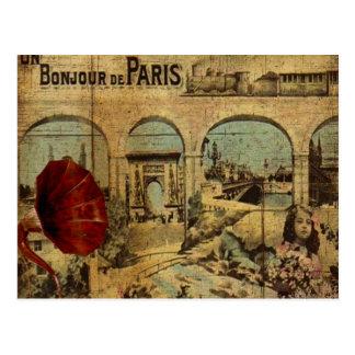 Vintage Paris Print Postcard