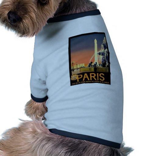 Vintage Paris Ringer Dog Shirt