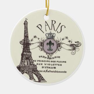 Vintage Paris Romance ornament